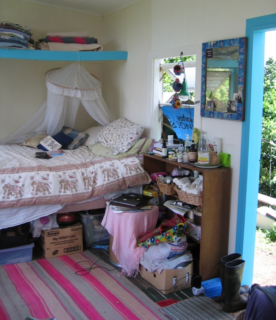 the bed in the shack